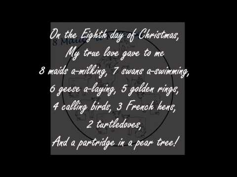 12 days of Christmas (Lyrics On Screen!!)