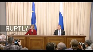 LIVE  Lavrov and EU's Mogherini hold joint press conference in Moscow