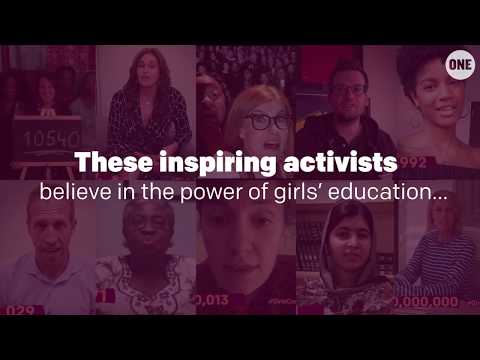 Inspiring ACTIVISTS join the #GirlsCount movement // The ONE Campaign