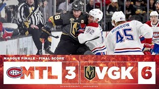 Canadiens vs Golden Knights 2017-18 Match 58