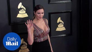 Katharine McPhee stuns in plunging gown at 2017 Grammy Awards - Daily Mail