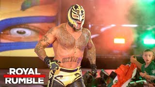 Rey Mysterio makes a shocking return in the Royal Rumble Match Royal Rumble 2018 WWE Network