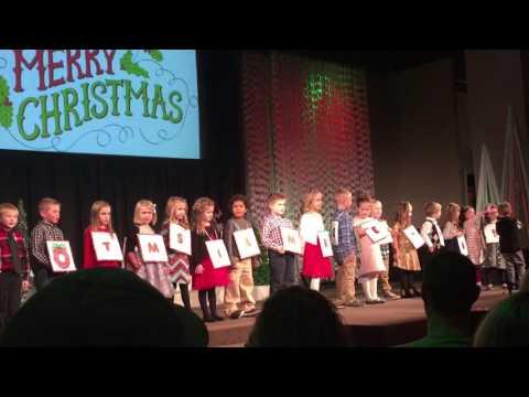 Kindergarten Class Christmas Play 2016