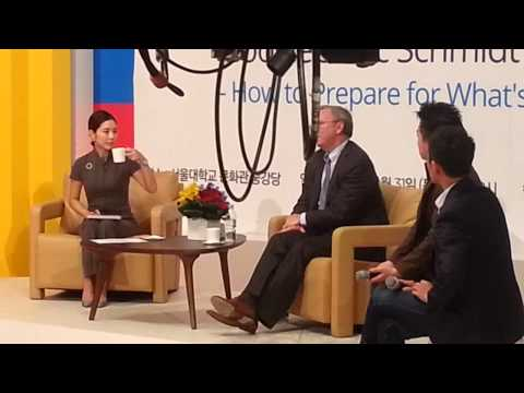 Communication with Google's Eric Schmidt at Seoul National University in South Korea.