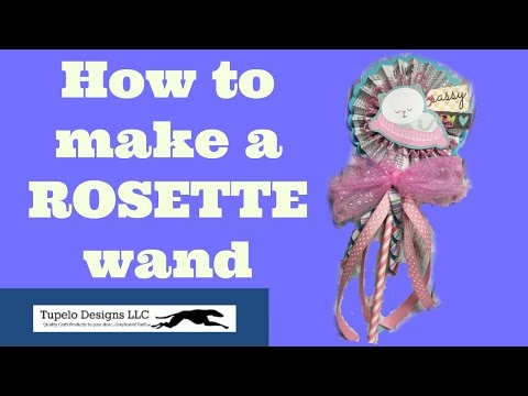 Rosette wand how to make diy