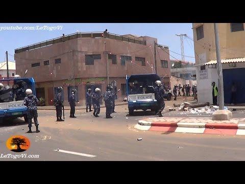 Des pétards en réponse aux gaz lacrymogènes, font peur aux forces de répression de Faure GNASSINGBE