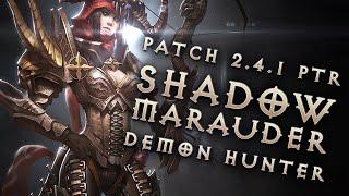 Diablo 3 2.4.1 Demon Hunter Build: Shadow Marauder GR 96+ (PTR, Season 6)