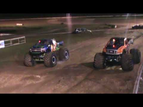 All American Monster Truck Tour - Iron Warrior vs Nothing But Trouble (Racing)