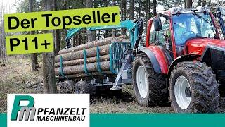 Rückewagen: Kann der Rückeanhänger mit Forstkran P11+ überzeugen?