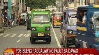 UB: PHIVOLCS: Posibleng paggalaw ng fault sa Davao Region, dapat ding paghandaan