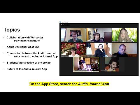 Technology Hour IAAIS Conf 2021 AJ App Presentation