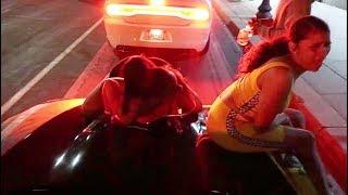KING OF DOWNTOWN: ratchet chicks twerk on my corvette!!!