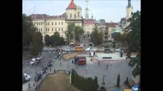 Веб-камера онлайн Проспект Свободы - Памятник Шевченко, Львов - Camera.HomeTab.info