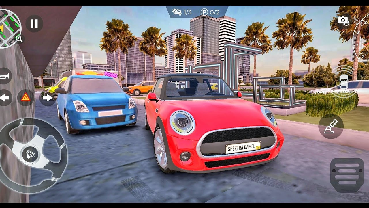 Real Car Parking Master : Completing Parking Missions - Mini Cooper Driving Multiplayer Car Game