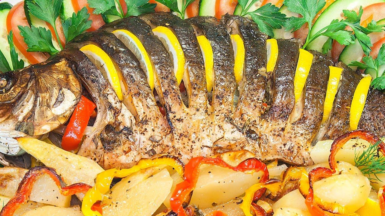 фаршированная рыба запеченная в духовке