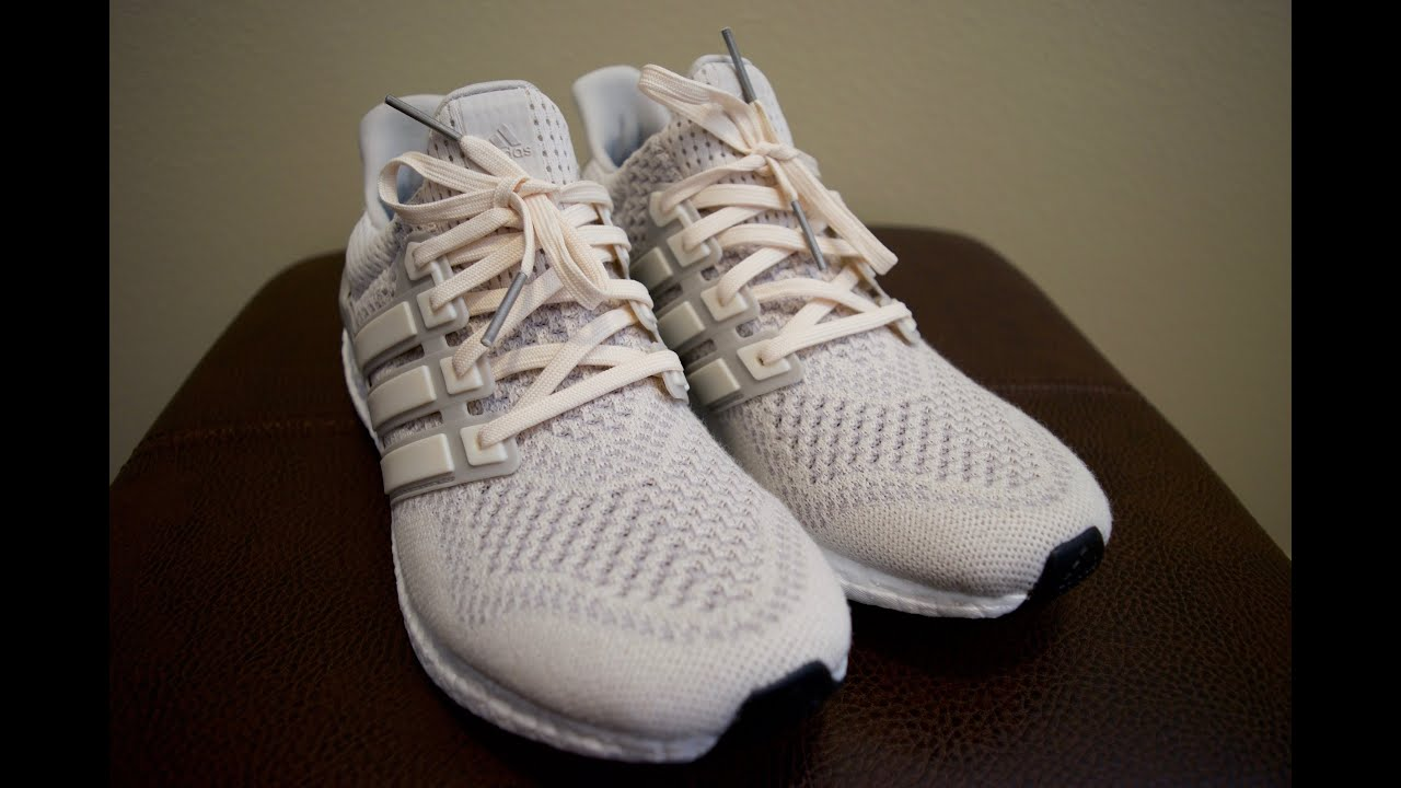 7393505786d Adidas Ultra Boost Chalk - UnboxingFirst Impressions - YouTu Adidas Ultra  Boost LTD M Cream ...