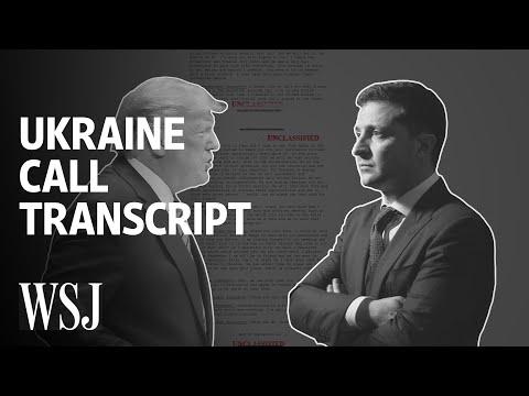 Ukraine Call Rough Transcript: How Trump's Conversation Unfolded | WSJ