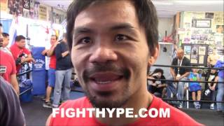 "MANNY PACQUIAO OPEN TO LOMACHENKO FIGHT: ""I CAN STILL MAKE 135"""