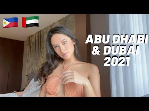 Abu Dhabi & Dubai Travel Vlog 2021 -Burj Khalifa, Grand Mosque, Atlantis The Palm!