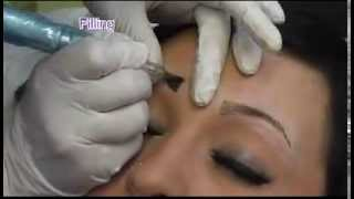 HD Eye Brows - 3D permanent makeup tutorial - Before & After - How to get  high definition brows