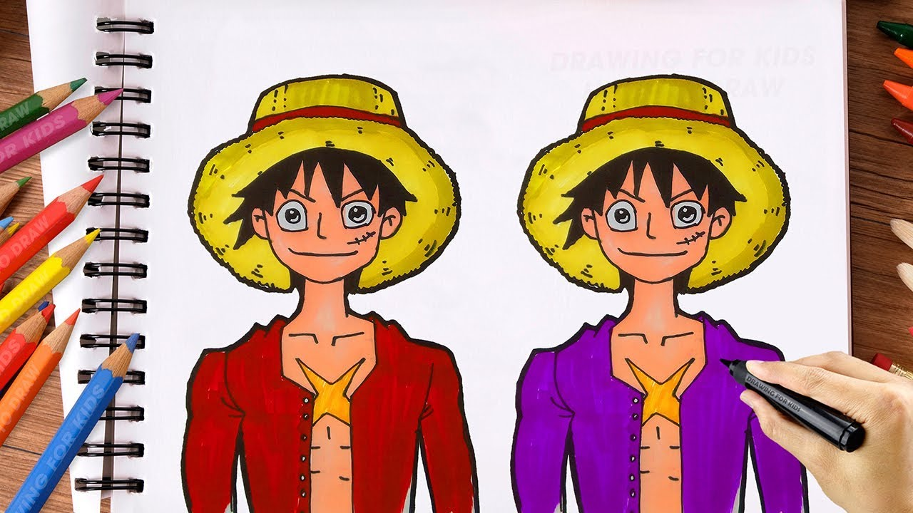 How To Draw Monkey D Luffy One Piece Drawing For Kid