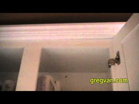 Difficult Cabinet Molding Nailing Tips - Kitchen Remodeling