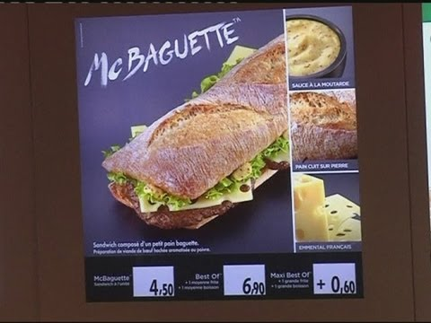 McDonald's release the 'McBaguette' in France - YouTube
