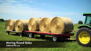 Moving Round Hay Bales