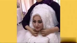 عرائس محجبات😍 بأجمل فساتين و اطلالة عروس 💃🏼 ردة فعل أزواجهم عند رأيتهم بفستان