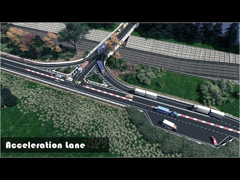 Acceleration Lane on a National Road - Cities Skylines: Custom Builds