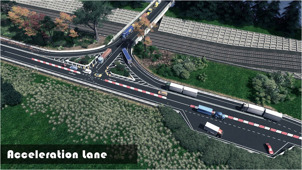 cities skylines how to build freeway intersections