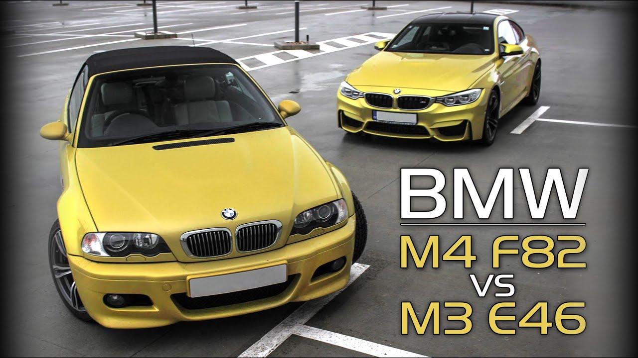 bmw m4 f82 vs m3 e46 rev battle burnout drag race and. Black Bedroom Furniture Sets. Home Design Ideas