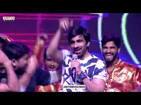 LV Revanth, RaviTeja, Mehreen Dance on Stage   @ Raja The Great Pre Release