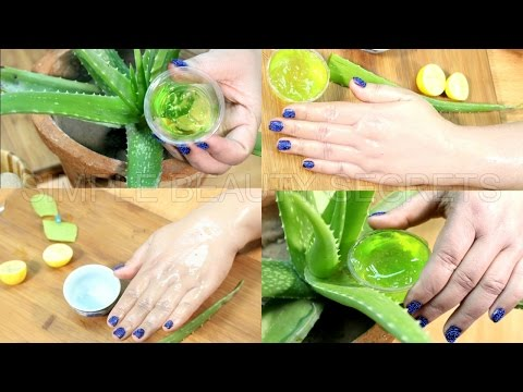 How To Get Fair Skin With Aloe Vera - Aloe Vera Gel For Face - *Simple Beauty Secrets*