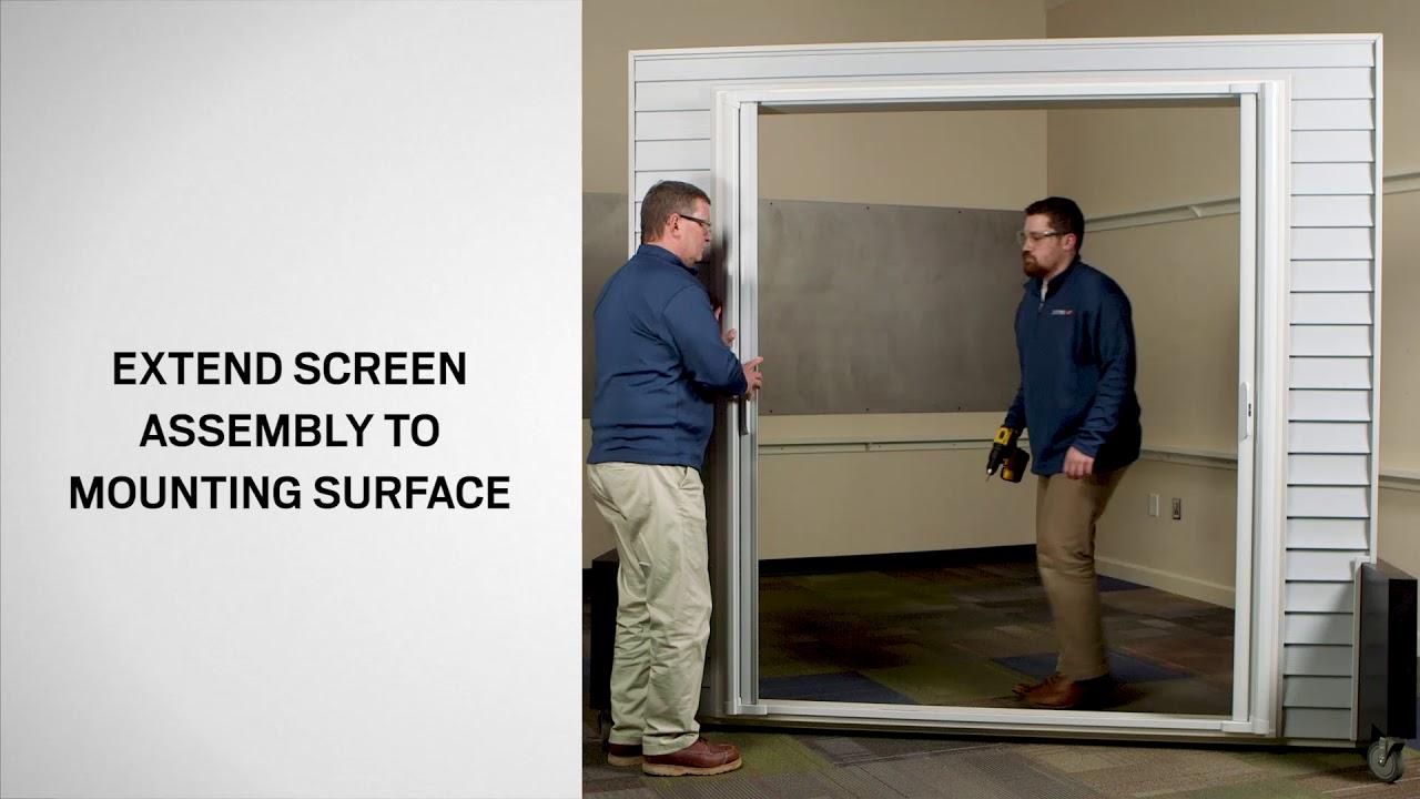How To Install An Andersen Luminaire Retractable Screen Double Door Andersen Windows Youtube