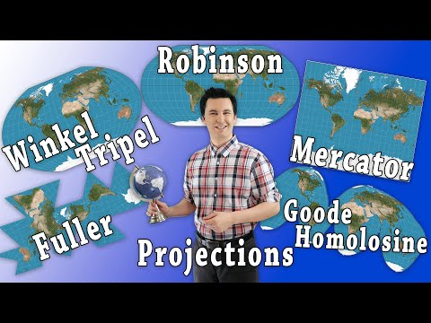 Types of Map Projections [AP Human Geography]