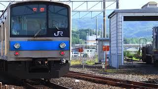 221系NB804編成 大和路快速と205系NE406編成 普通列車の離合