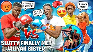 TRAVIS BOXED BENZO🥊  & SLUTTY FINALLY MET JALIYAH SISTER!❤️
