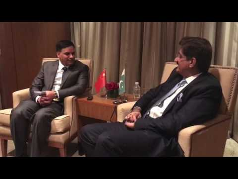 Sindh CM SYED MURAD ALI SHAH an interview to CHINA Radio (sot 5)