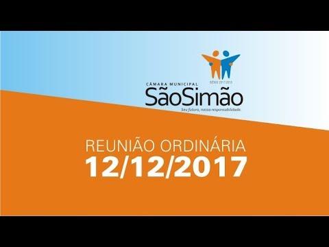 REUNIAO ORDINARIA 12/12/2017