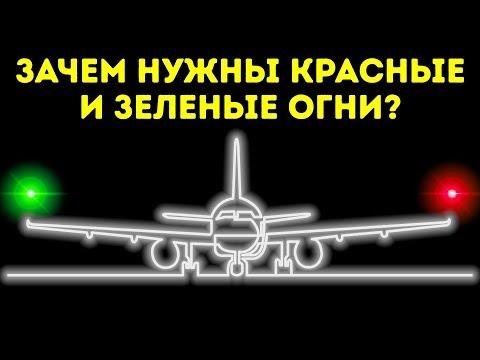 Красный, зеленый, белый — почему огни самолета разного цвета (+видео)