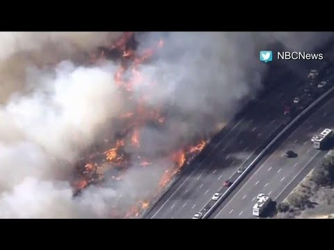 New fires break out in southern California