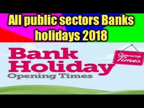 All public as well as private sectors bank holidays 2018 in