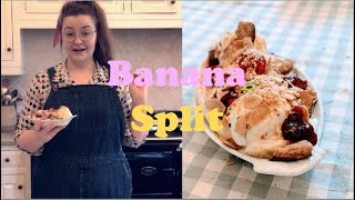 Banana Split Ice Cream Sundae - Cooking with Lara | ARTWORKS