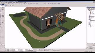 Построение дорожек на участке в ArchiCAD