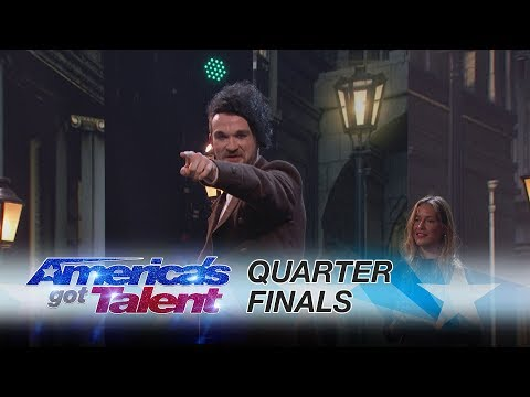 Colin Cloud: Mind Reader Convinces Mel B To Stab Simon Cowell - America's Got Talent 2017