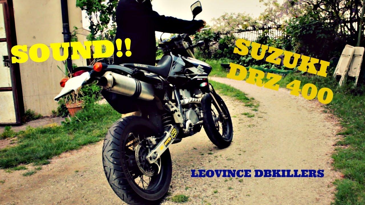 Leovince Suzuki DRZ 400 Sound V S  various db killers