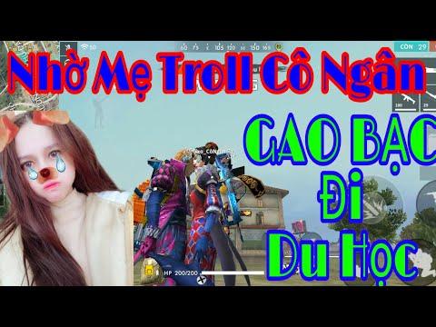 [Free Fire Troll #8] Nhờ Phụ Huynh troll Cô Ngân cho GAO đi du học và cái kết