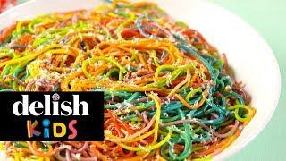 Rainbow Spaghetti  Delish Kids