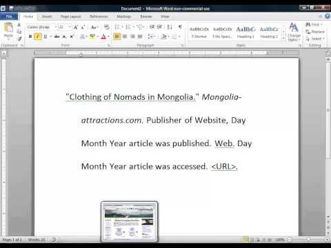 How to cite a website in MLA 2